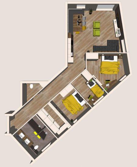 Grundriss Apartment Dorfplatzl